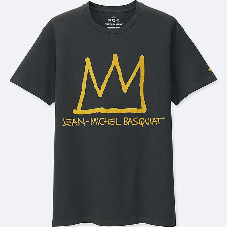 MEN SPRZ NY SHORT SLEEVE GRAPHIC T-SHIRT (JEAN-MICHEL BASQUIAT), DARK GRAY, large