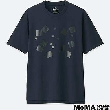 MEN SPRZ NY  GRAPHIC T-SHIRT (Josef Albers), DARK GRAY, medium
