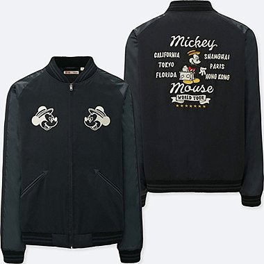 MEN MICKEY TRAVELS SOUVENIR JACKET, DARK GRAY, medium