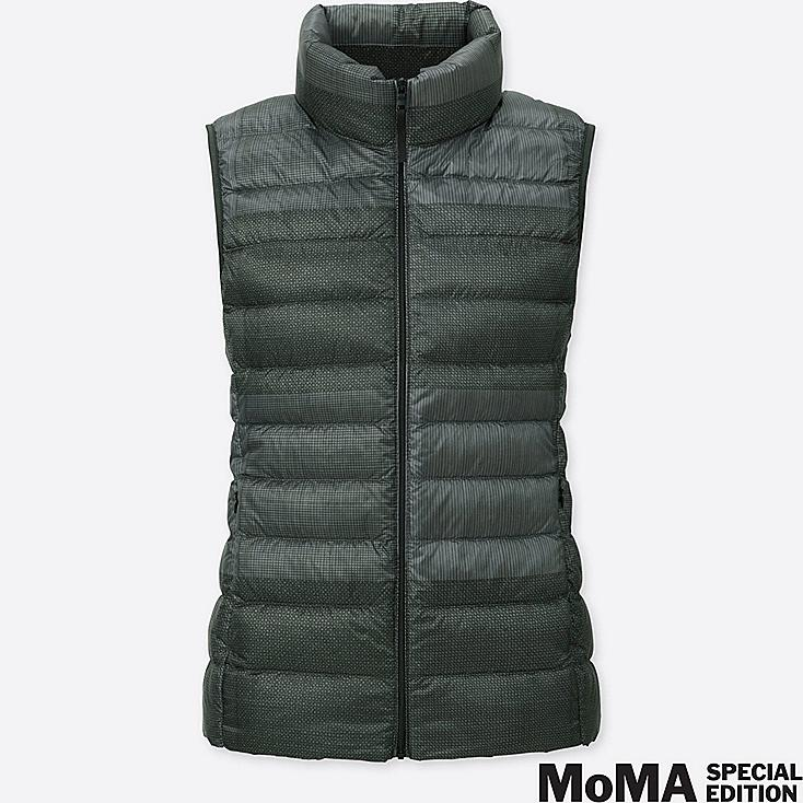 WOMEN SPRZ NY SOL LEWITT ULTRA LIGHT DOWN VEST, DARK GRAY, large