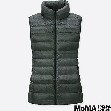 WOMEN SPRZ NY SOL LEWITT ULTRA LIGHT DOWN VEST, DARK GRAY, medium