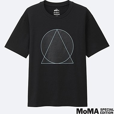 MEN SPRZ NY Super Geometric GRAPHIC T-SHIRT (SOL LEWITT), BLACK, medium