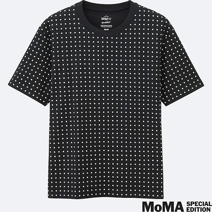 MEN SPRZ NY Super Geometric GRAPHIC T-SHIRT (FRANCOIS MORELLET), BLACK, large