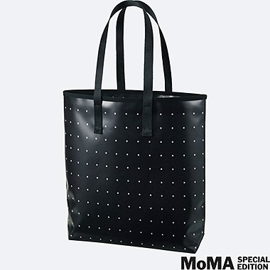 SPRZ NY SUPER GEOMETRIC TOTE BAG (FRANCOIS MORELLET), BLACK, medium