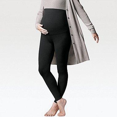 WOMEN MATERNITY LEGGINGS, BLACK, medium