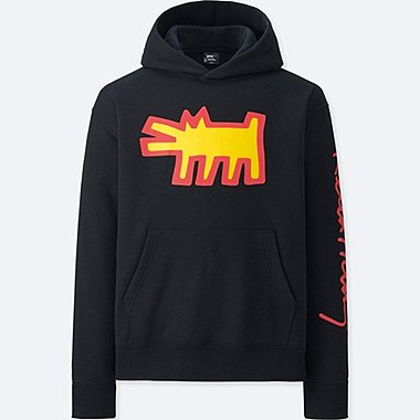 MEN SPRZ NY GRAPHIC HOODIE (KEITH HARING), BLACK, medium