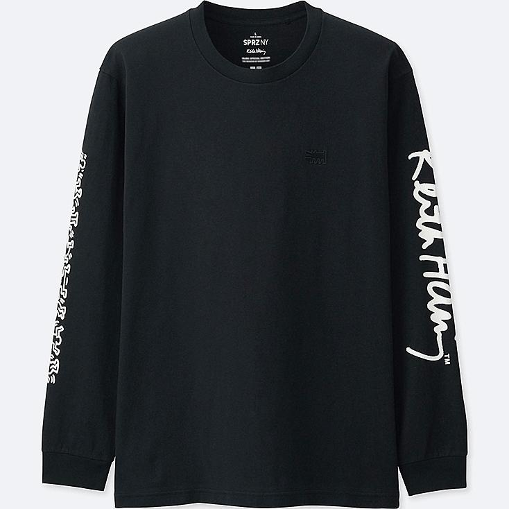 MEN SPRZ NY LONG-SLEEVE GRAPHIC T-SHIRT (KEITH HARING), BLACK, large