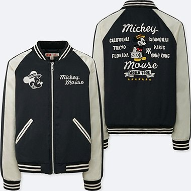 KIDS MICKEY TRAVELS SOUVENIR JACKET, BLACK, medium