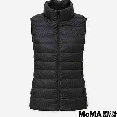 WOMEN SPRZ NY SOL LEWITT ULTRA LIGHT DOWN VEST, BLACK, medium
