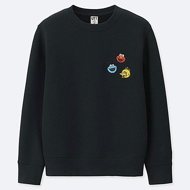 KIDS KAWS X SESAME STREET SWEATSHIRT, BLACK, medium