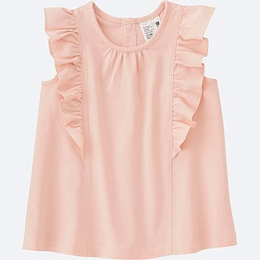TODDLER FRILL SLEEVELESS T-SHIRT, PINK, medium