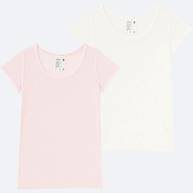 TODDLER AIRISM MESH T-SHIRT 2-PACK, PINK, medium