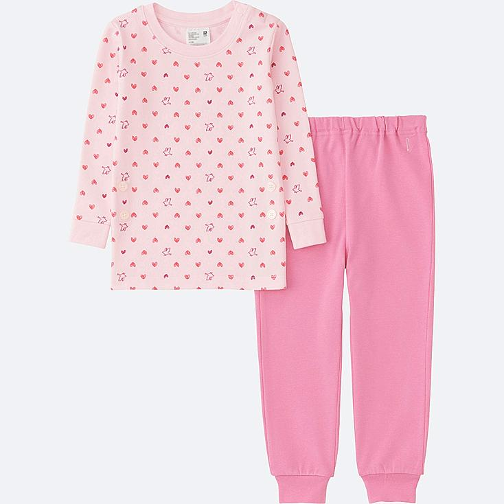 TODDLER LONG SLEEVE PAJAMAS, PINK, large