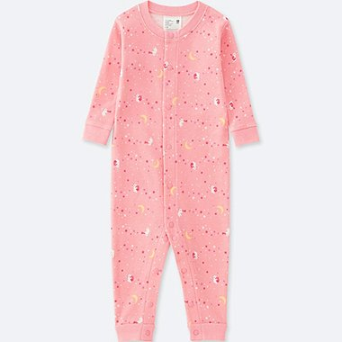 BABY LONG-SLEEVE ONE-PIECE OUTFIT, PINK, medium