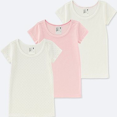 TODDLER COTTON INNER SHORT-SLEEVE T-SHIRT 3 PACK, PINK, medium