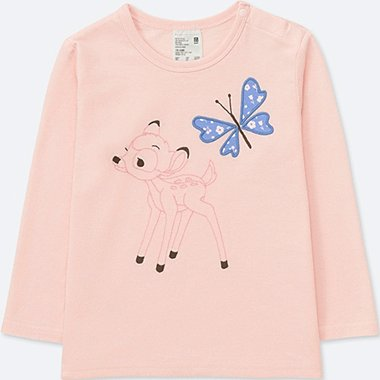 TODDLER DISNEY TEXTILE CREWNECK LONG-SLEEVE T-SHIRT, PINK, medium