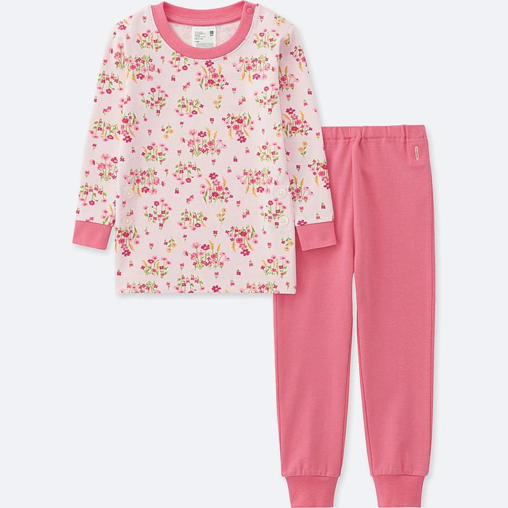 TODDLER LONG-SLEEVE PAJAMAS, PINK, large