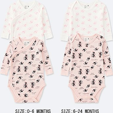 NEWBORN DISNEY COLLECTION LONG-SLEEVE BODYSUIT (SET OF 2), PINK, medium