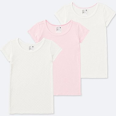 TODDLER COTTON INNER SHORT-SLEEVE T-SHIRT (SET OF 3), PINK, medium