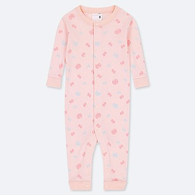 NEWBORN LONG-SLEEVE ONE-PIECE, PINK, medium