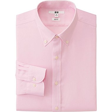 Men's Dress Shirts Easy Care Slim Fit Shirts | UNIQLO US