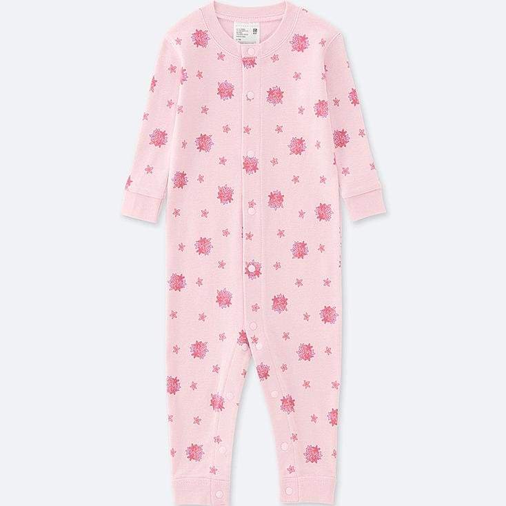 BABY LONG-SLEEVE ONE-PIECE OUTFIT, PINK, large