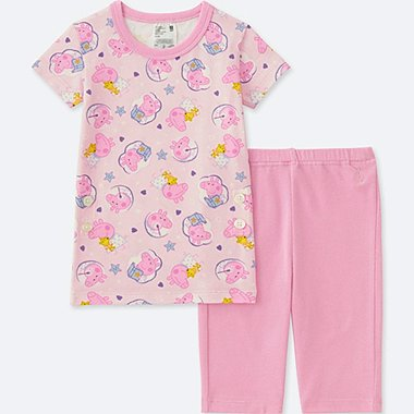 TODDLER PEPPA PIG SHORT-SLEEVE DRY PAJAMAS, PINK, medium
