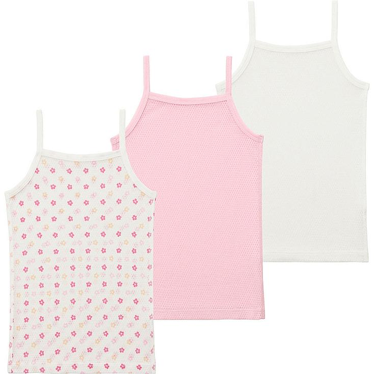 Toddler Mesh Camisole, 3-Pack, PINK, large