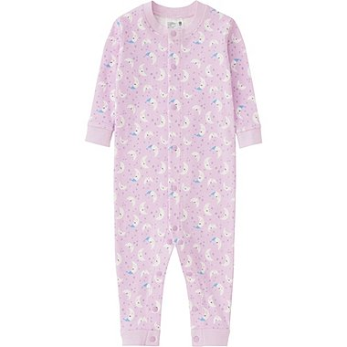 BABY LONG SLEEVE ONE PIECE OUTFIT, PINK, medium