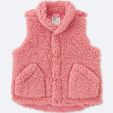 TODDLER FLUFFY YARN VEST, PINK, medium