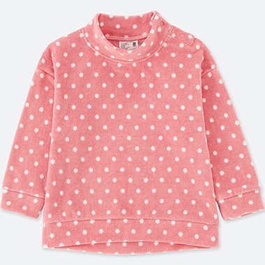 TODDLER STRETCH FLEECE HIGH-NECK LONG-SLEEVE T-SHIRT, PINK, medium