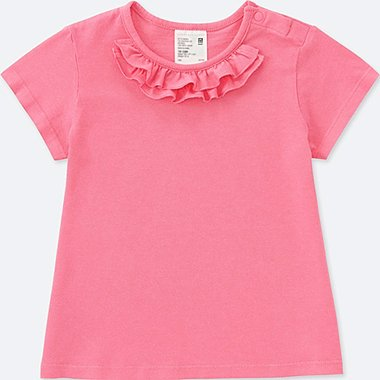 TODDLER CREWNECK SHORT-SLEEVE T-SHIRT, PINK, medium