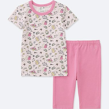 TODDLER STUDIO SANDERSON FOR UNIQLO SHORT-SLEEVE DRY PAJAMAS, PINK, medium