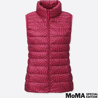 WOMEN SPRZ NY SOL LEWITT ULTRA LIGHT DOWN VEST, RED, medium