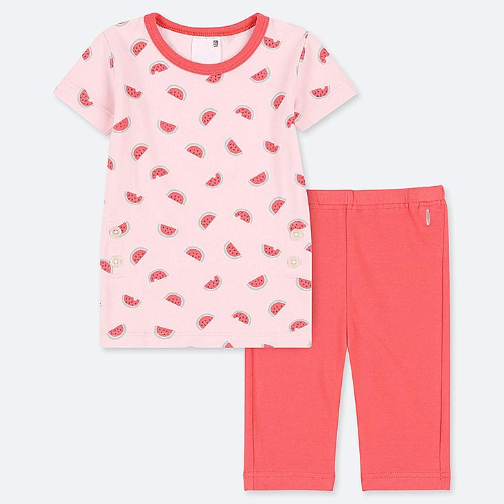 TODDLER SHORT-SLEEVE DRY PAJAMAS, RED, large