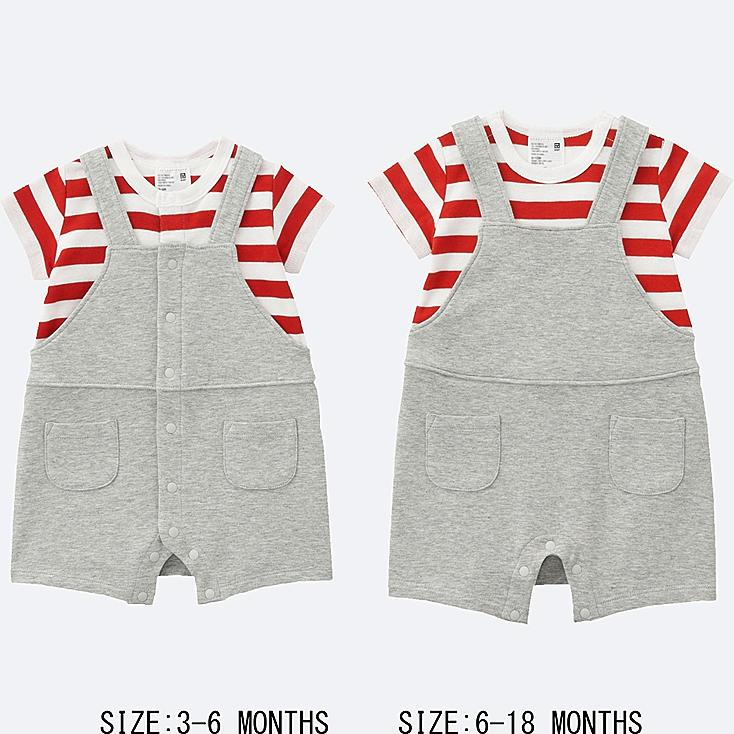 BABY COORDINATED SHORT ALL, RED, large