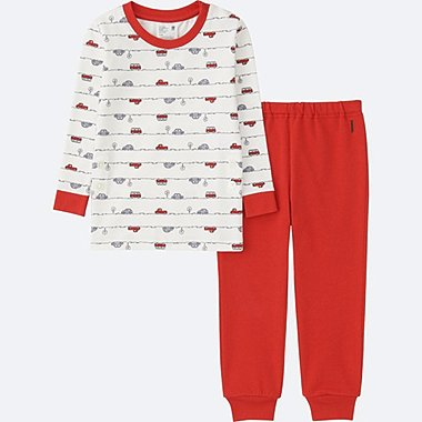 TODDLER LONG SLEEVE PAJAMAS, RED, medium