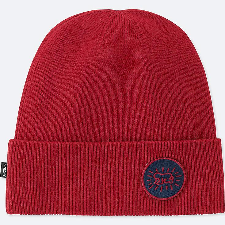 MEN SPRZ NY KNITTED CAP, RED, large