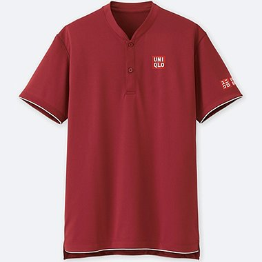 MEN DRY-EX SHORT-SLEEVE POLO SHIRT (ROGER FEDERER), RED, medium