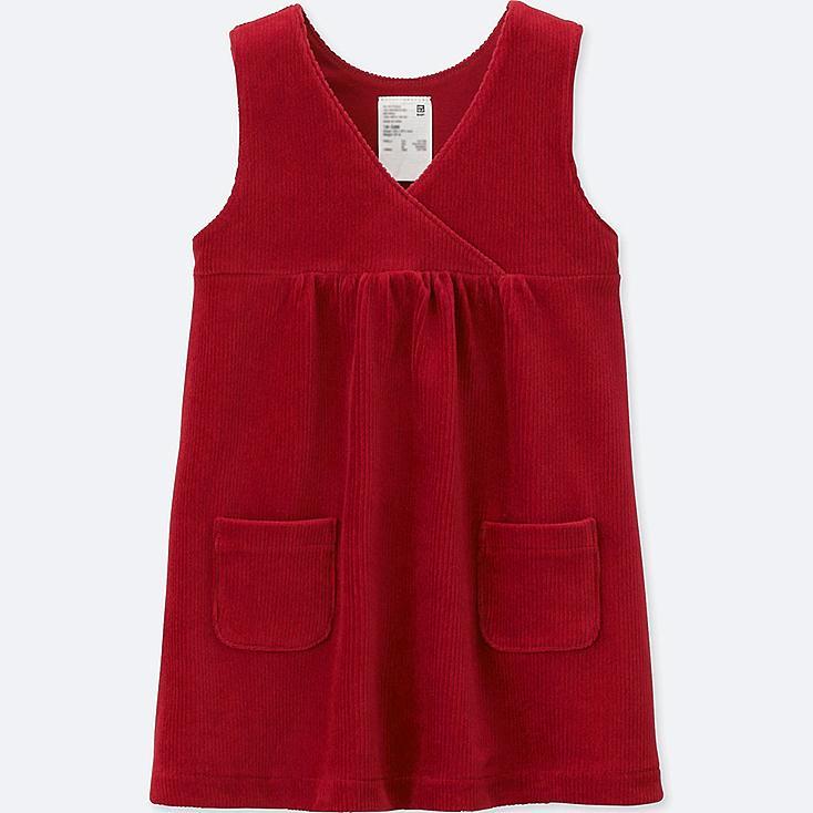 TODDLER JUMPER DRESS, RED, large