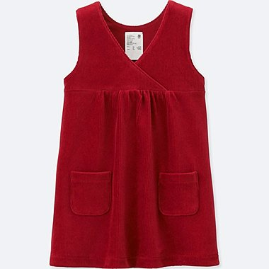 TODDLER JUMPER DRESS, RED, medium
