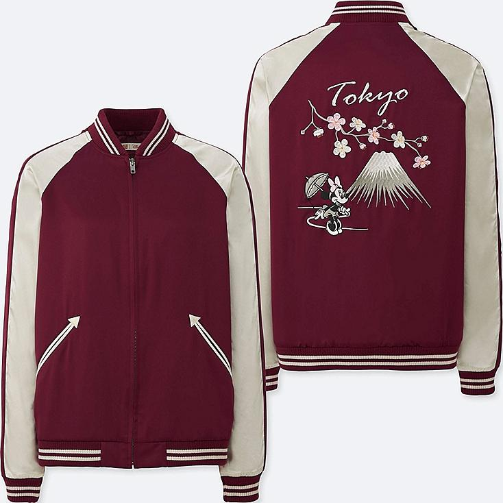 WOMEN MICKEY TRAVELS SOUVENIR JACKET, WINE, large