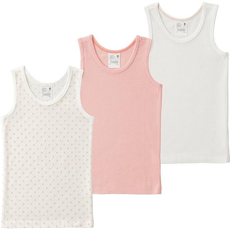 Toddler Mesh Tank Top Undershirt, 3 Pack, LIGHT ORANGE, large