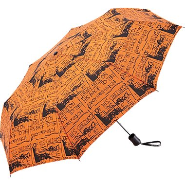 SPRZ NY UMBRELLA (JEAN-MICHEL BASQUIAT), ORANGE, medium