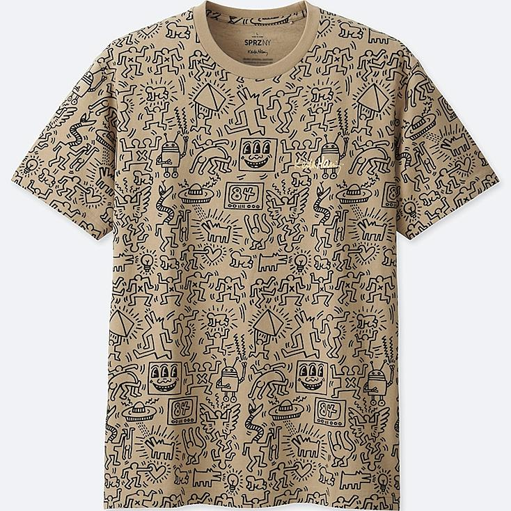 MEN SPRZ NY SHORT-SLEEVE GRAPHIC T-SHIRT (KEITH HARING), BEIGE, large