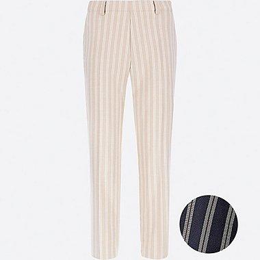 WOMEN SMART STYLE ANKLE-LENGTH PANTS, BEIGE, medium