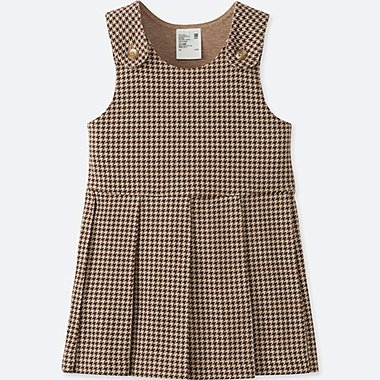 TODDLER JUMPER DRESS, BROWN, medium