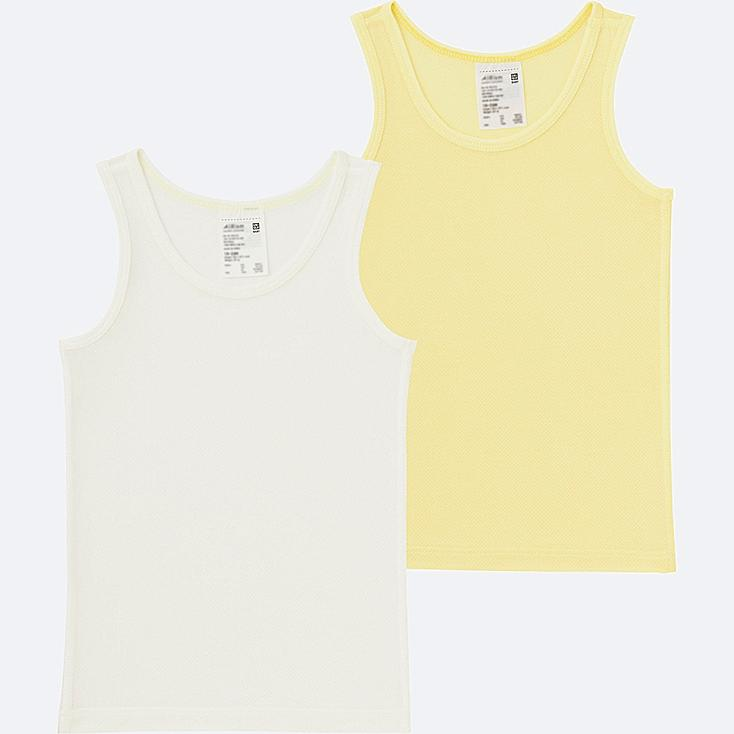 TODDLER AIRISM MESH TANK TOP 2-PACK, YELLOW, large