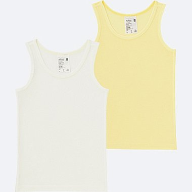 TODDLER AIRISM MESH TANK TOP 2-PACK, YELLOW, medium