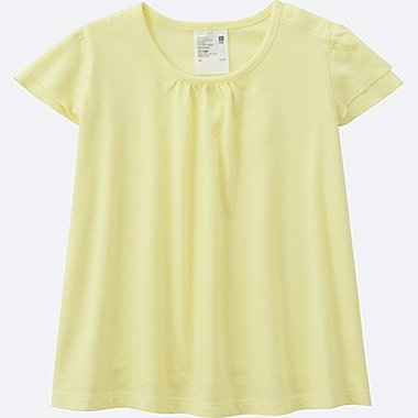 TODDLER FRILL SHORT SLEEVE T-SHIRT, YELLOW, medium